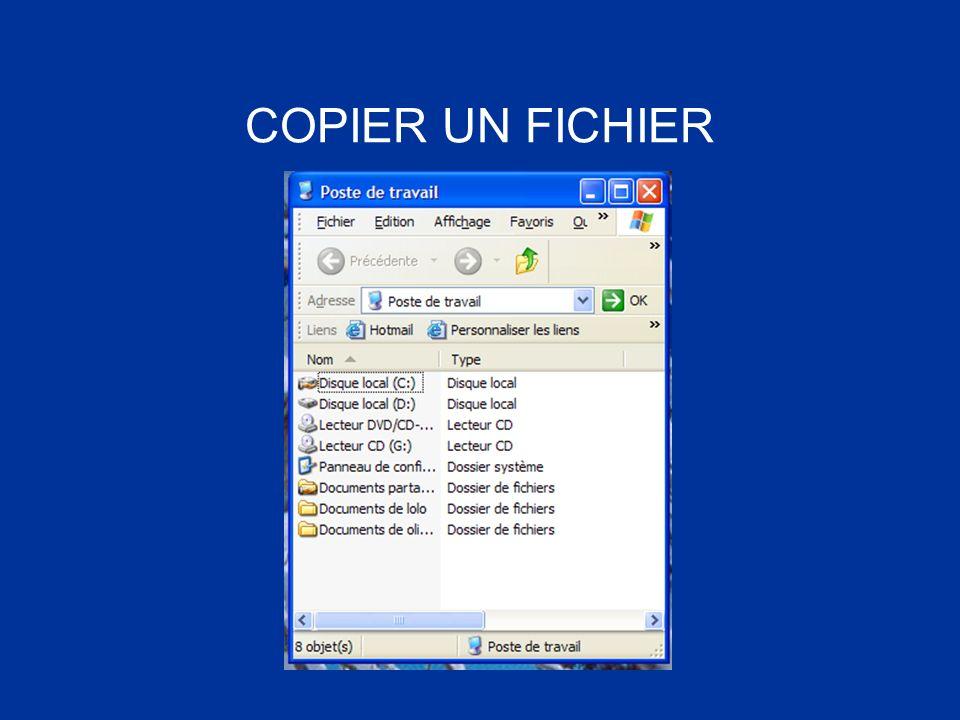 COPIER UN FICHIER