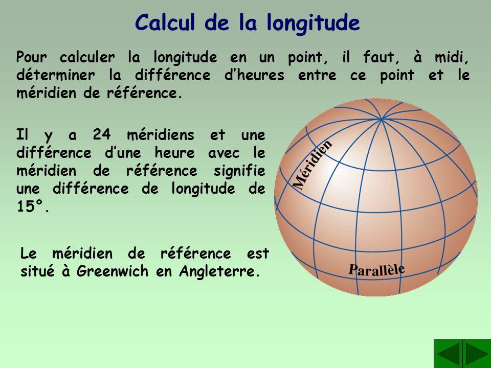Calcul de la longitude