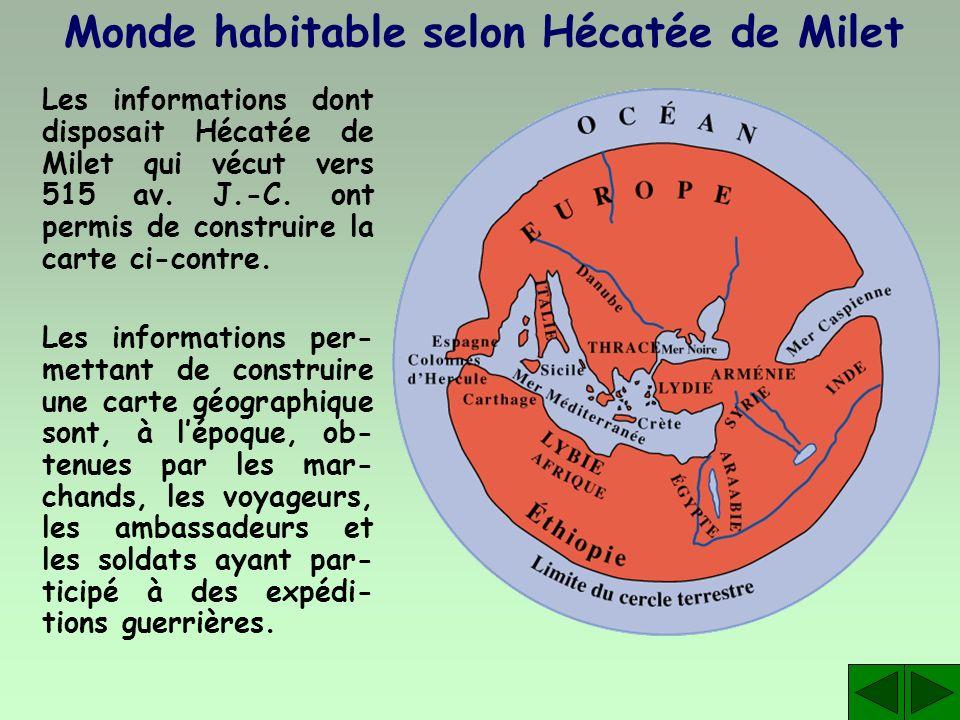 Monde habitable selon Hécatée de Milet