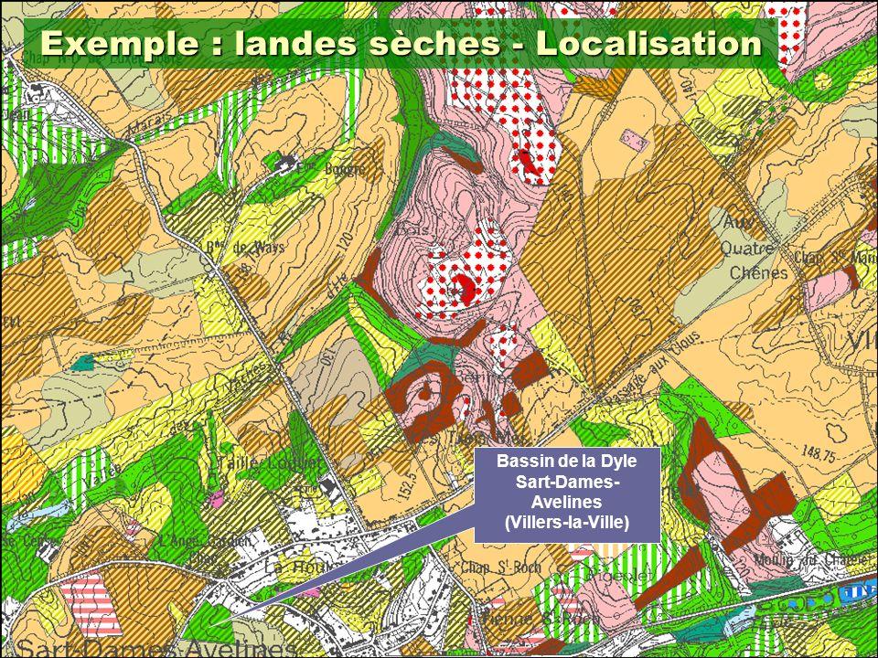 Exemple : landes sèches - Localisation