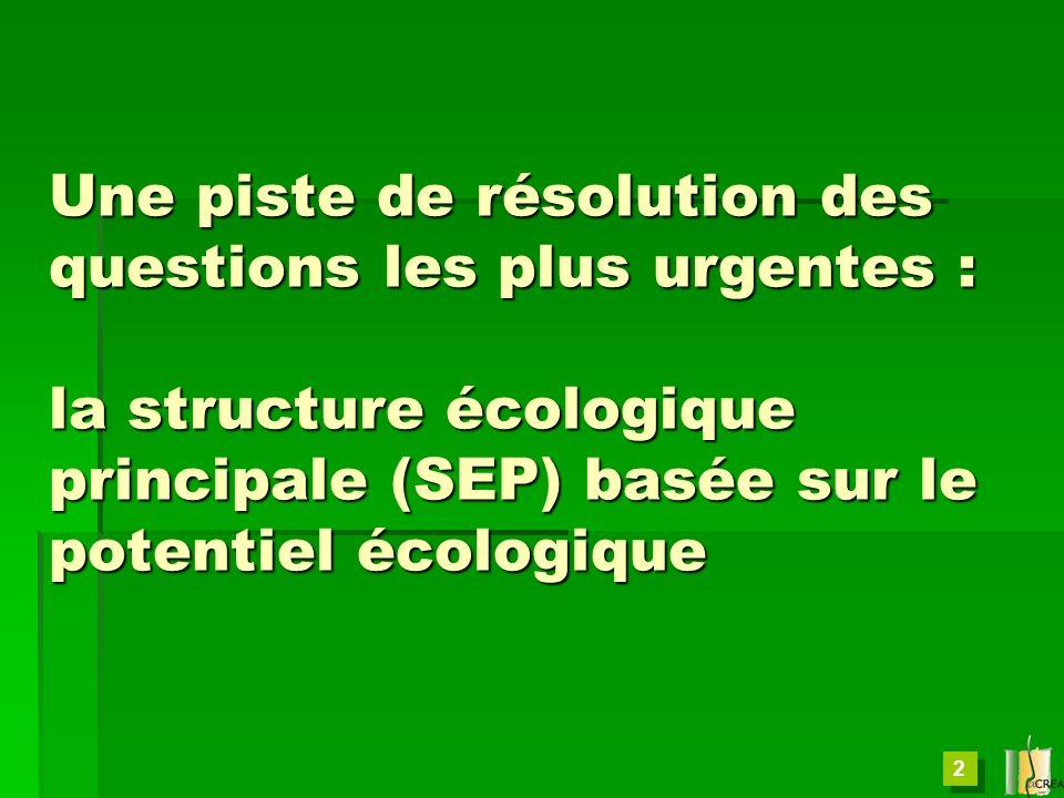 Une piste de résolution des questions les plus urgentes : la structure écologique principale (SEP) basée sur le potentiel écologique