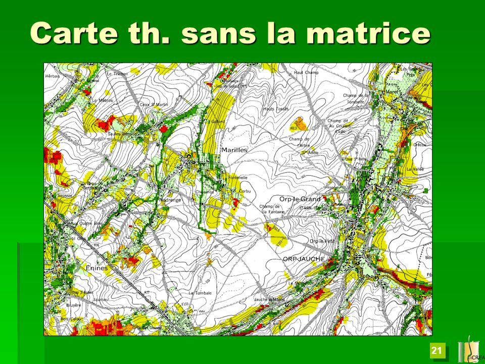 Carte th. sans la matrice