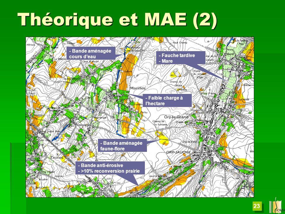 Théorique et MAE (2) - Bande aménagée cours d'eau - Fauche tardive