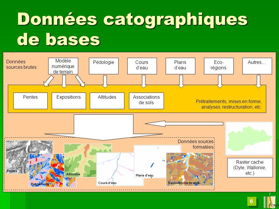Données catographiques de bases