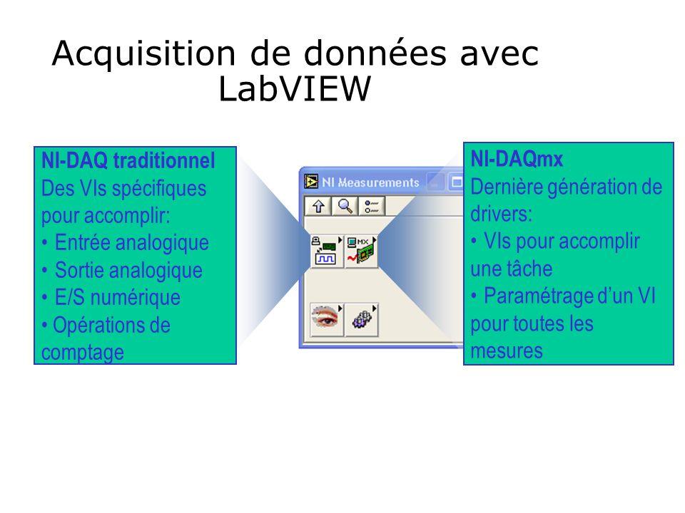 Acquisition de données avec LabVIEW