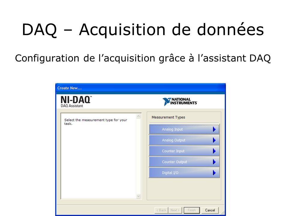 DAQ – Acquisition de données