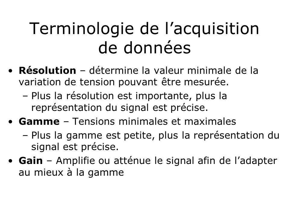 Terminologie de l'acquisition de données
