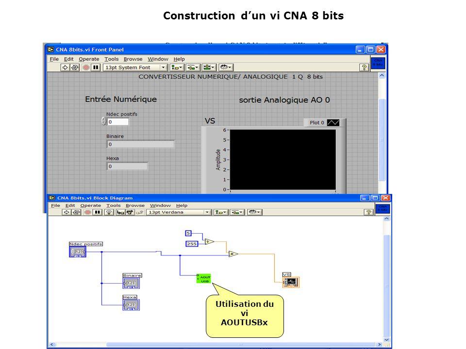 Construction d'un vi CNA 8 bits
