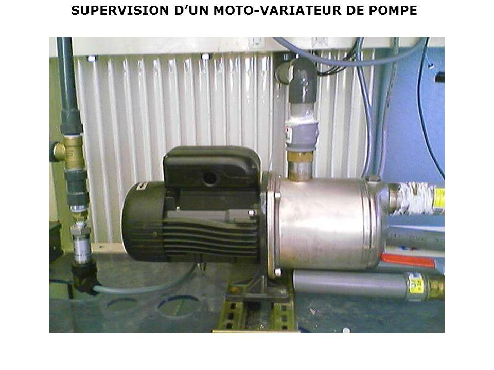 SUPERVISION D'UN MOTO-VARIATEUR DE POMPE