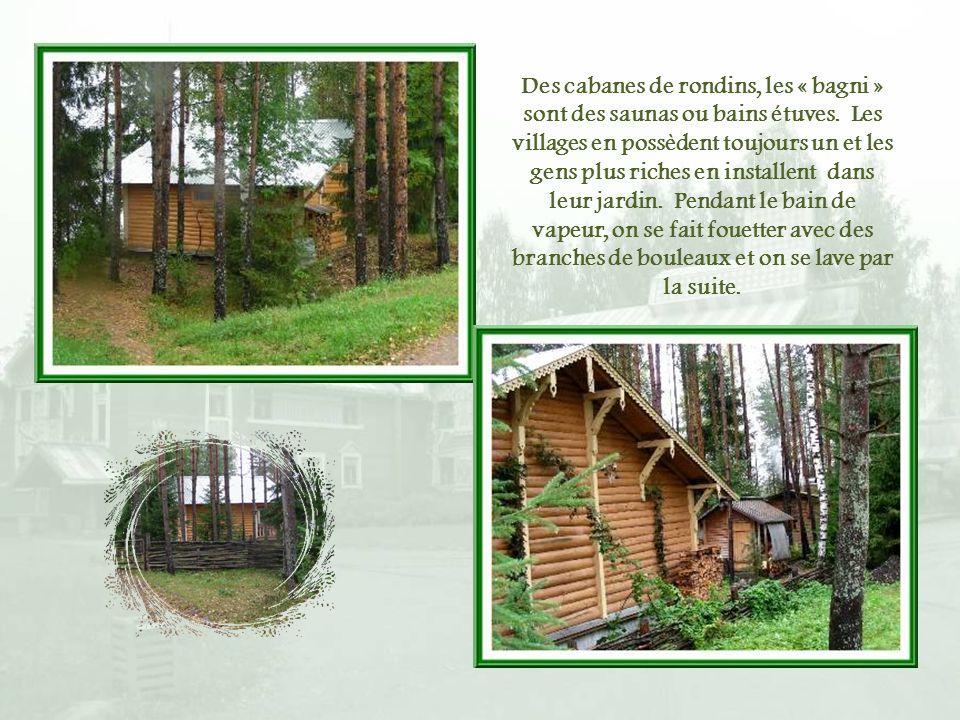 Des cabanes de rondins, les « bagni » sont des saunas ou bains étuves