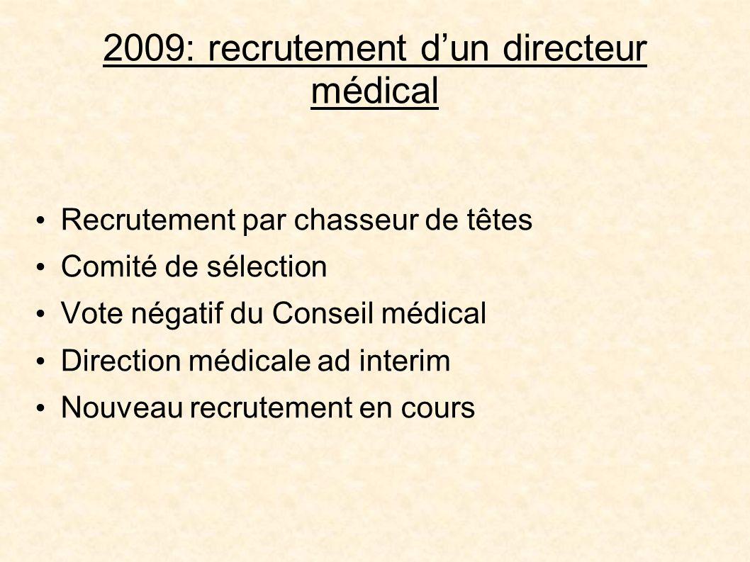 2009: recrutement d'un directeur médical