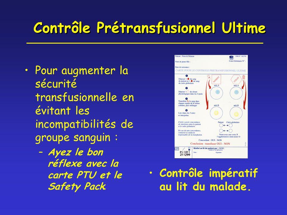 Contrôle Prétransfusionnel Ultime