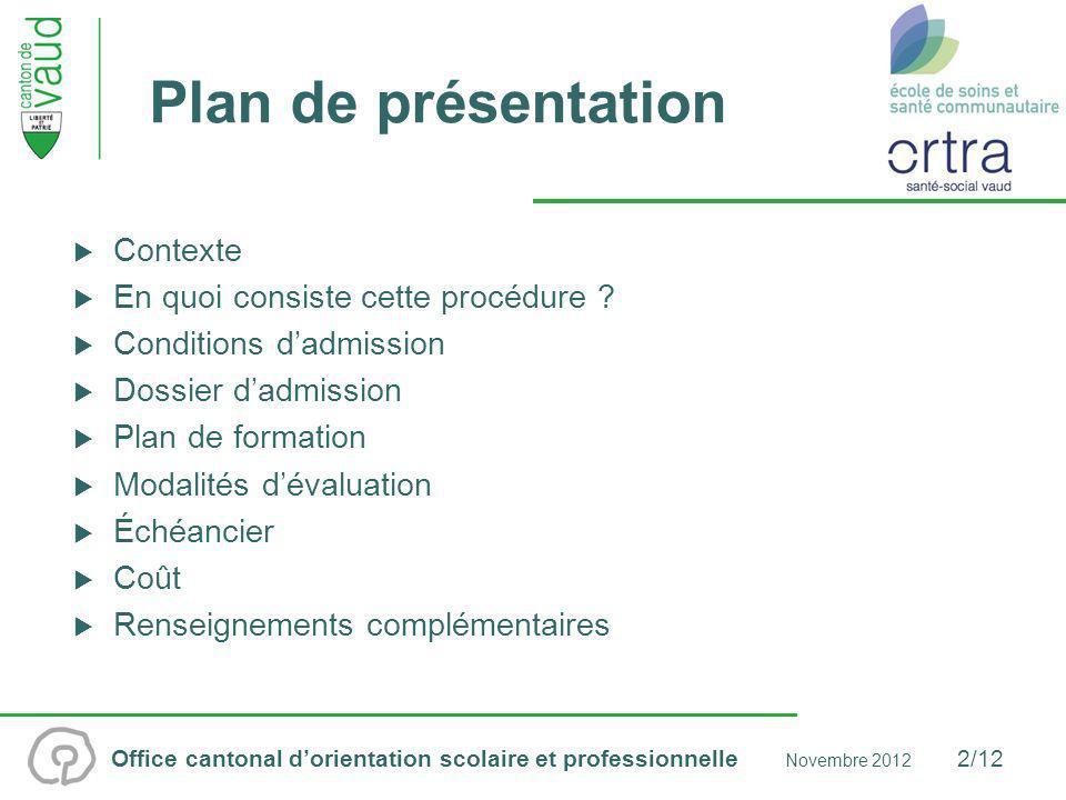 Plan de présentation Contexte En quoi consiste cette procédure