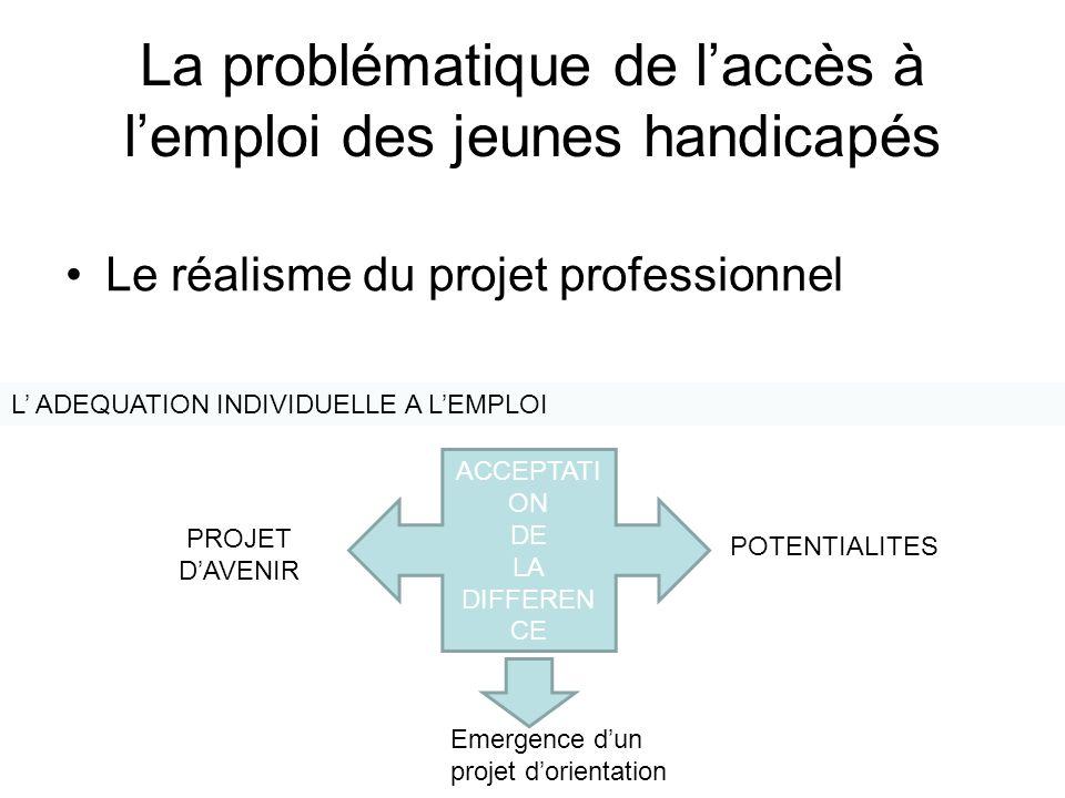 La problématique de l'accès à l'emploi des jeunes handicapés