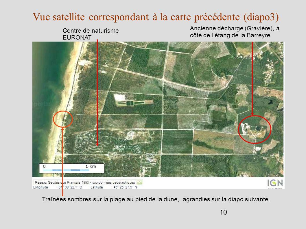 Vue satellite correspondant à la carte précédente (diapo3)