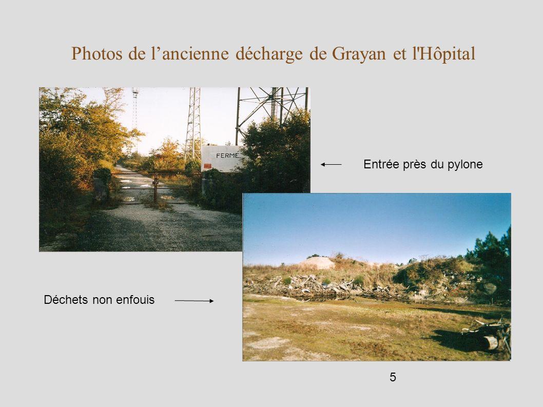 Photos de l'ancienne décharge de Grayan et l Hôpital