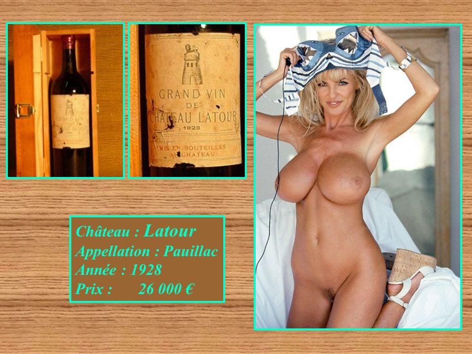 Château : Latour Appellation : Pauillac Année : 1928 Prix : 26 000 €