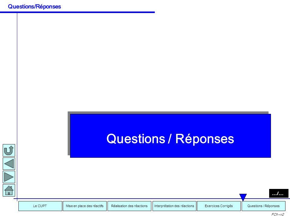 Questions/Réponses Questions / Réponses …/…
