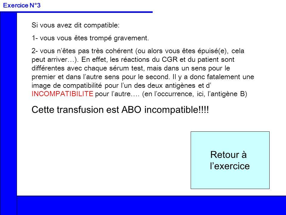 Cette transfusion est ABO incompatible!!!!