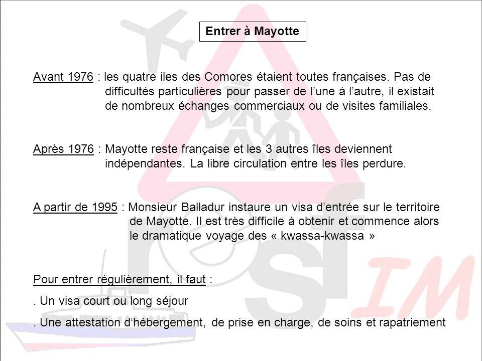 Entrer à Mayotte