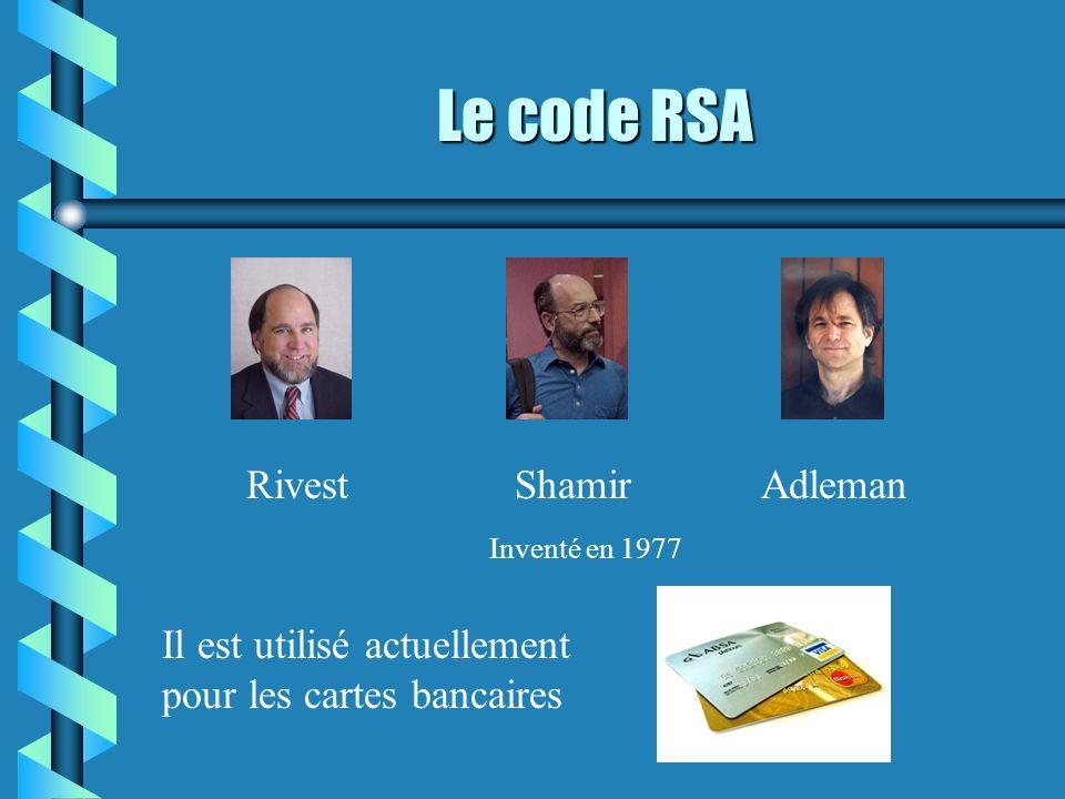 Le code RSA Rivest Shamir Adleman