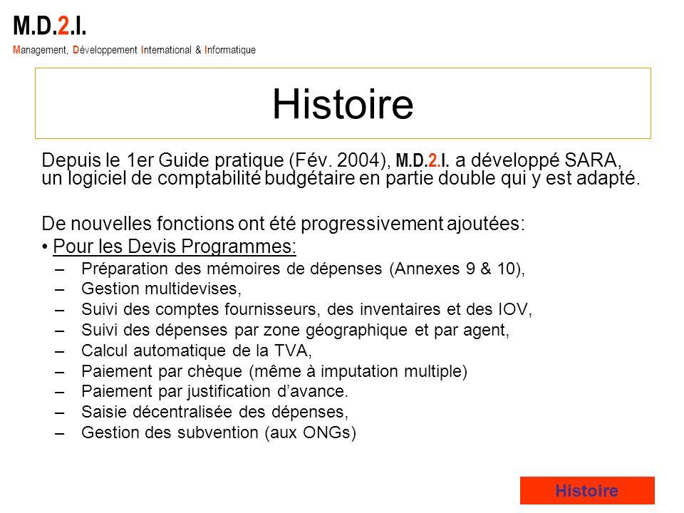 M.D.2.I. Management, Développement International & Informatique. Histoire.