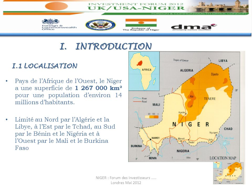 NIGER : Forum des Investisseurs ..... Londres Mai 2012