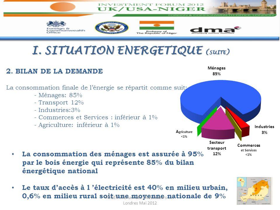 I. SITUATION ENERGETIQUE (suite)