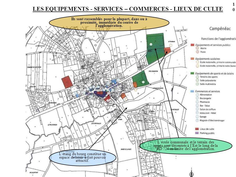 LES EQUIPEMENTS - SERVICES – COMMERCES - LIEUX DE CULTE