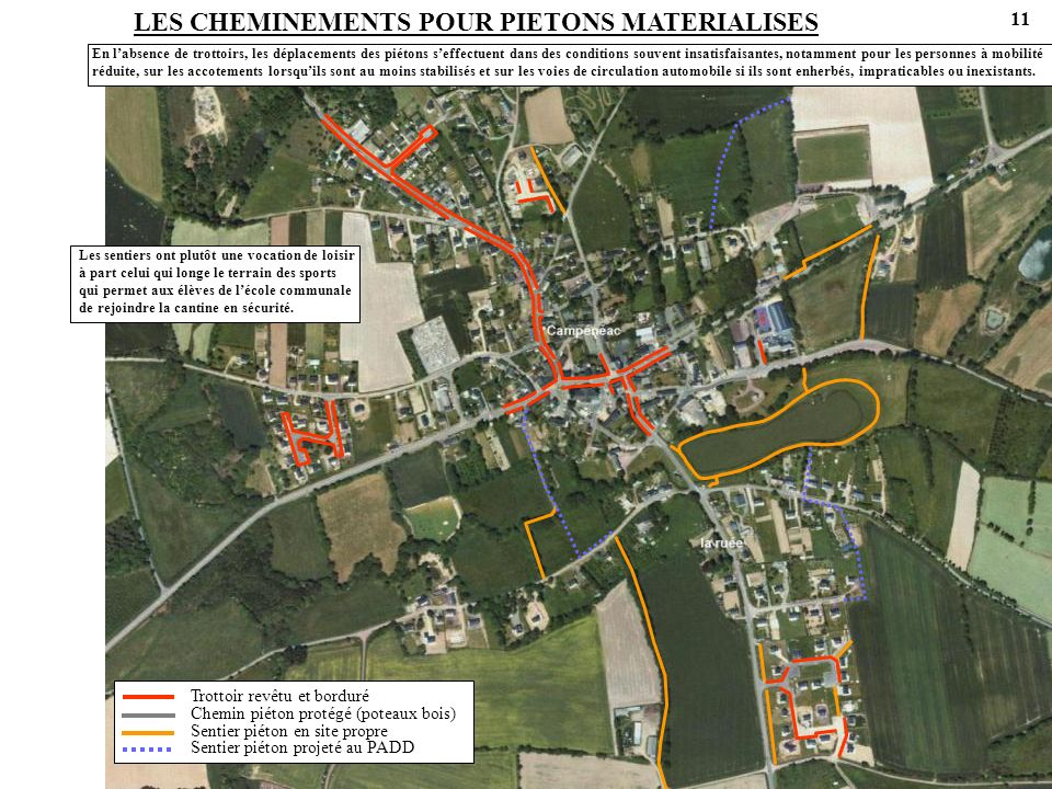 LES CHEMINEMENTS POUR PIETONS MATERIALISES