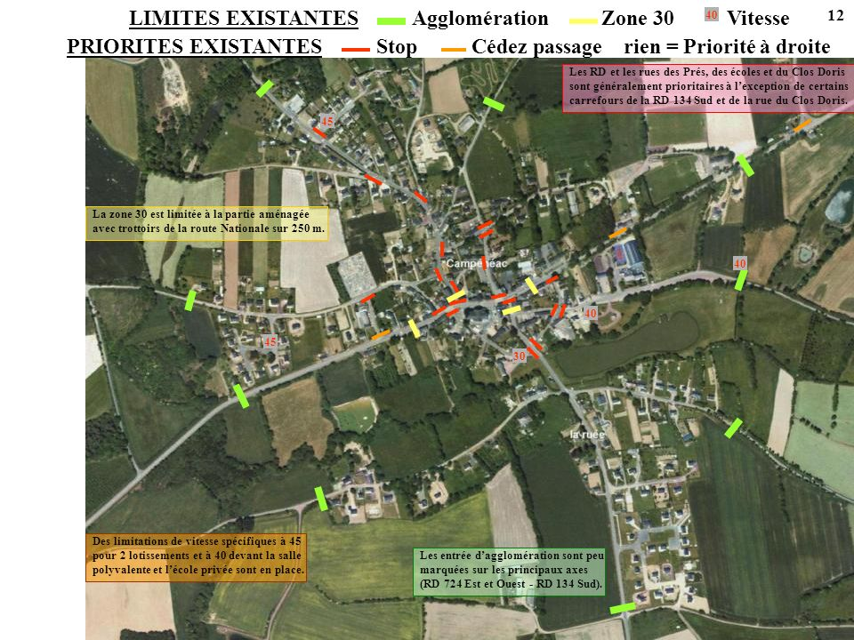 LIMITES EXISTANTES Agglomération Zone 30 Vitesse