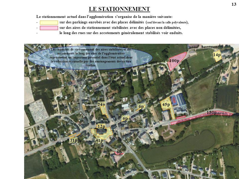 LE STATIONNEMENT 13 41p 11p 24p 6p 12p 45p 14p 6p 150p maxi 100p