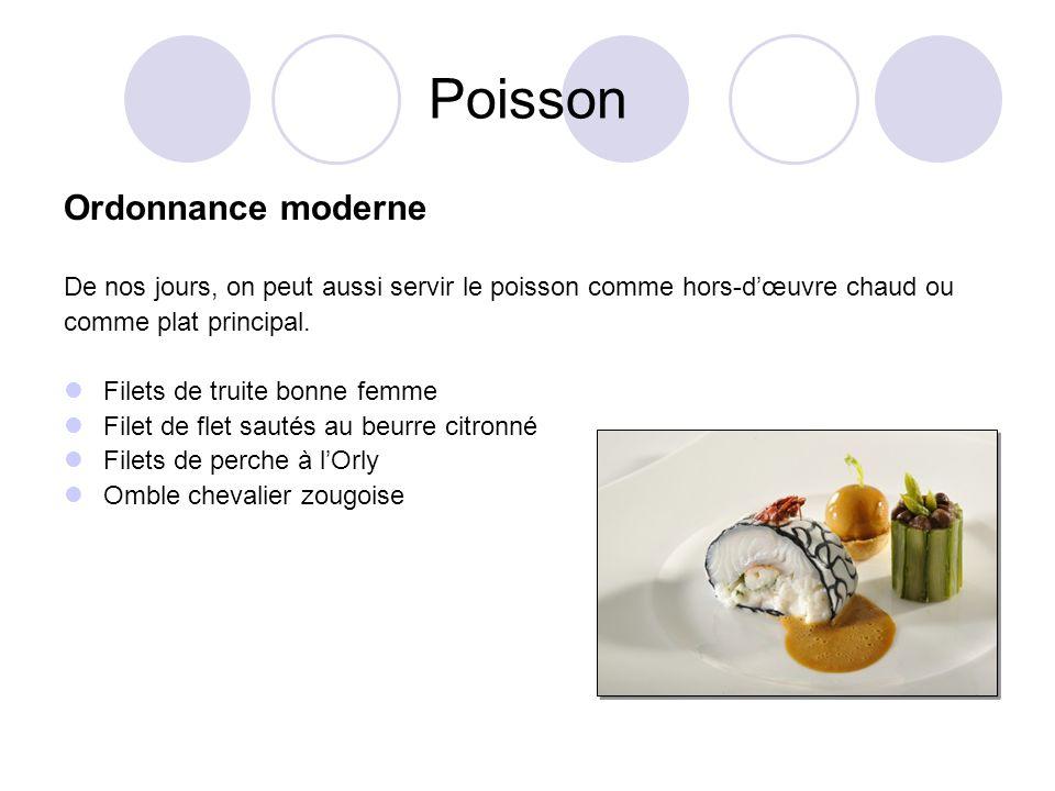 Poisson Ordonnance moderne