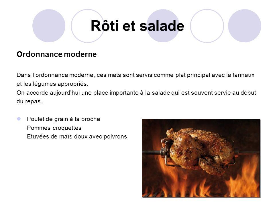 Rôti et salade Ordonnance moderne