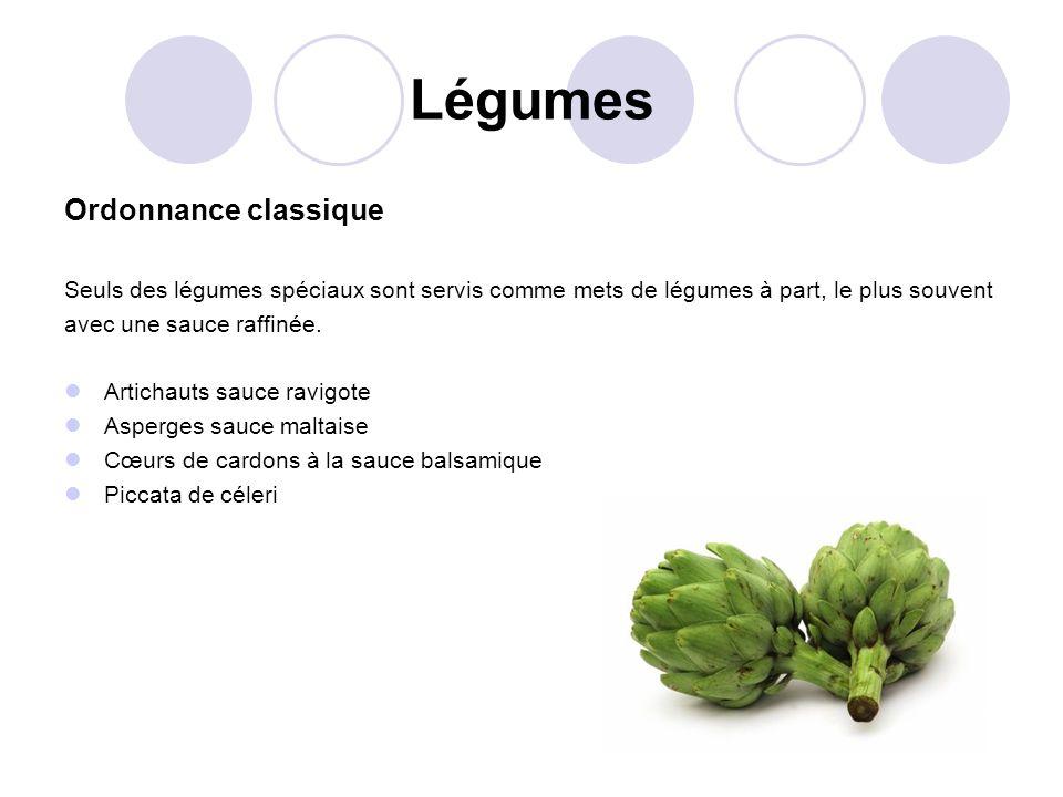 Légumes Ordonnance classique