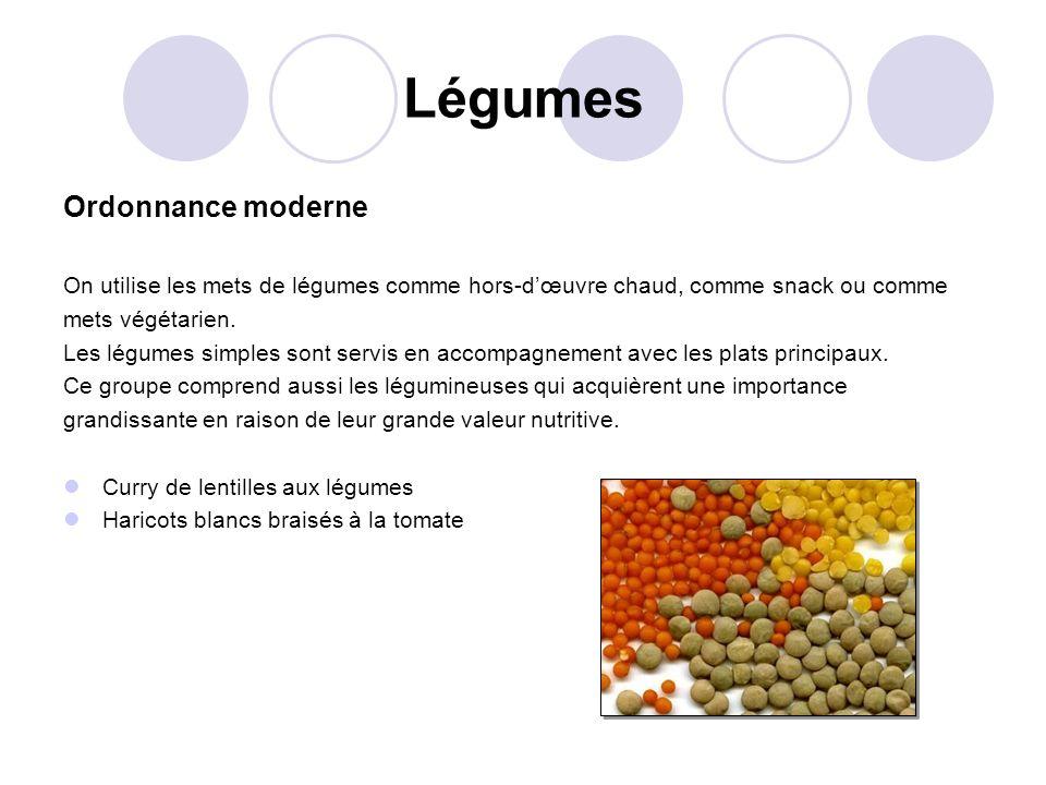 Légumes Ordonnance moderne