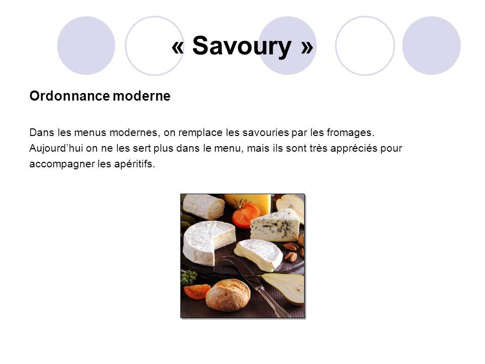 « Savoury » Ordonnance moderne