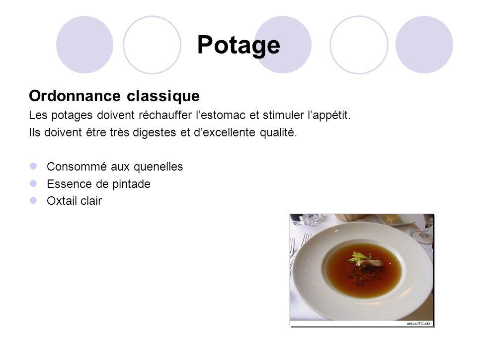 Potage Ordonnance classique