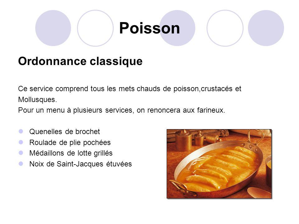 Poisson Ordonnance classique
