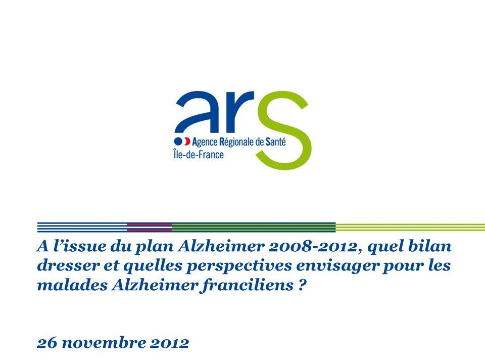 A l'issue du plan Alzheimer 2008-2012, quel bilan dresser et quelles perspectives envisager pour les malades Alzheimer franciliens