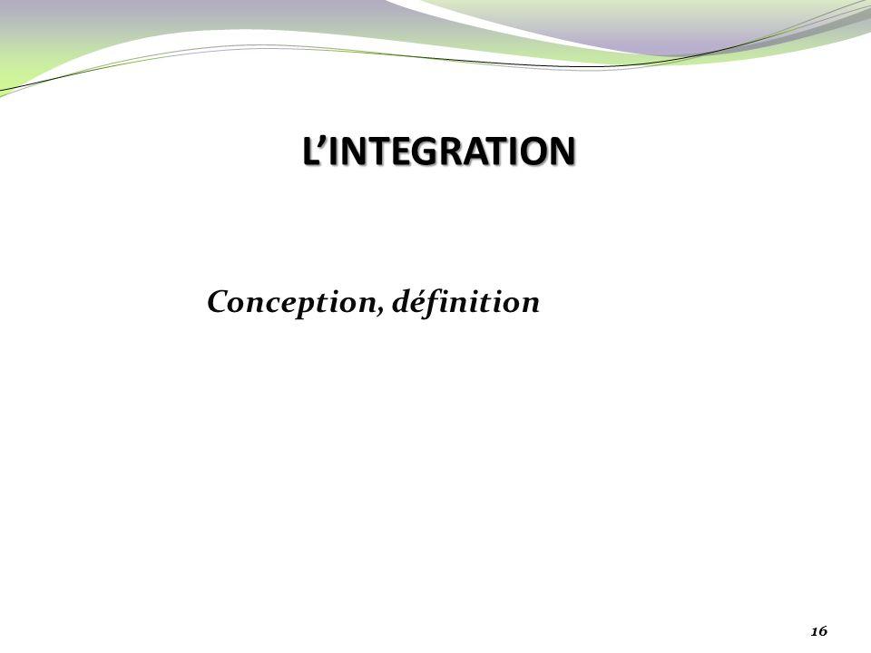 Conception, définition