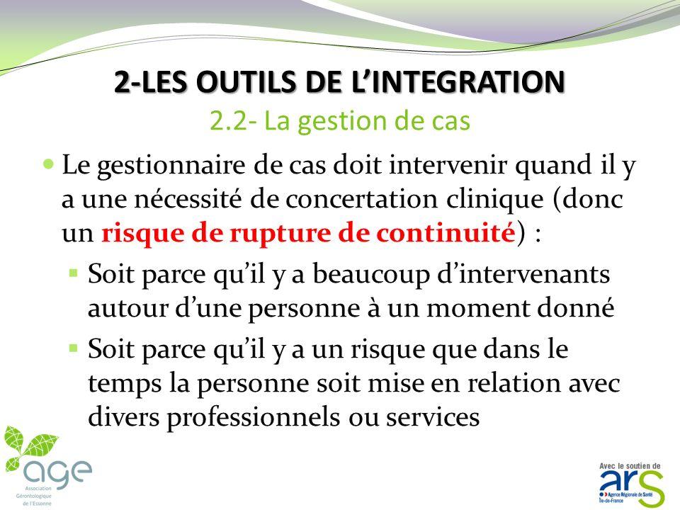 2-LES OUTILS DE L'INTEGRATION 2.2- La gestion de cas