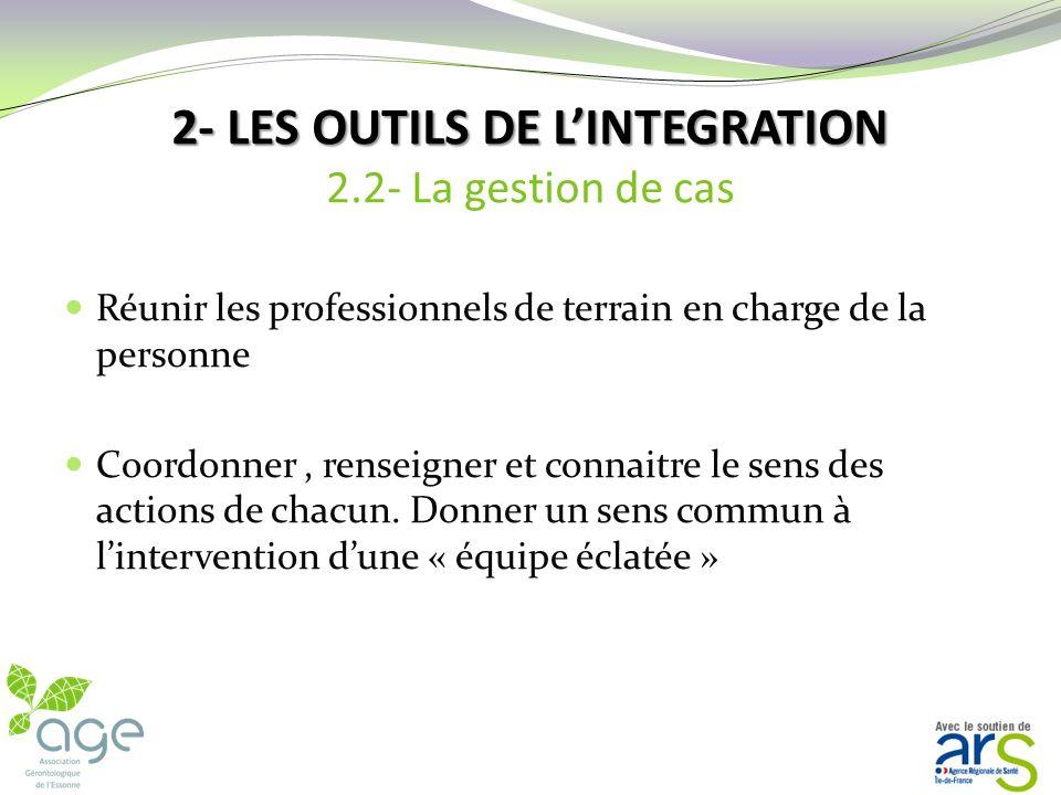 2- LES OUTILS DE L'INTEGRATION 2.2- La gestion de cas