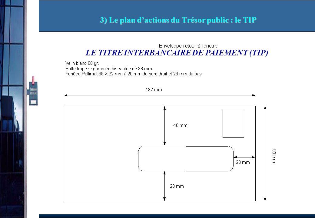 3) Le plan d'actions du Trésor public : le TIP