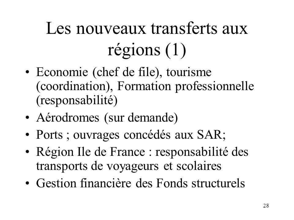 Les nouveaux transferts aux régions (2)