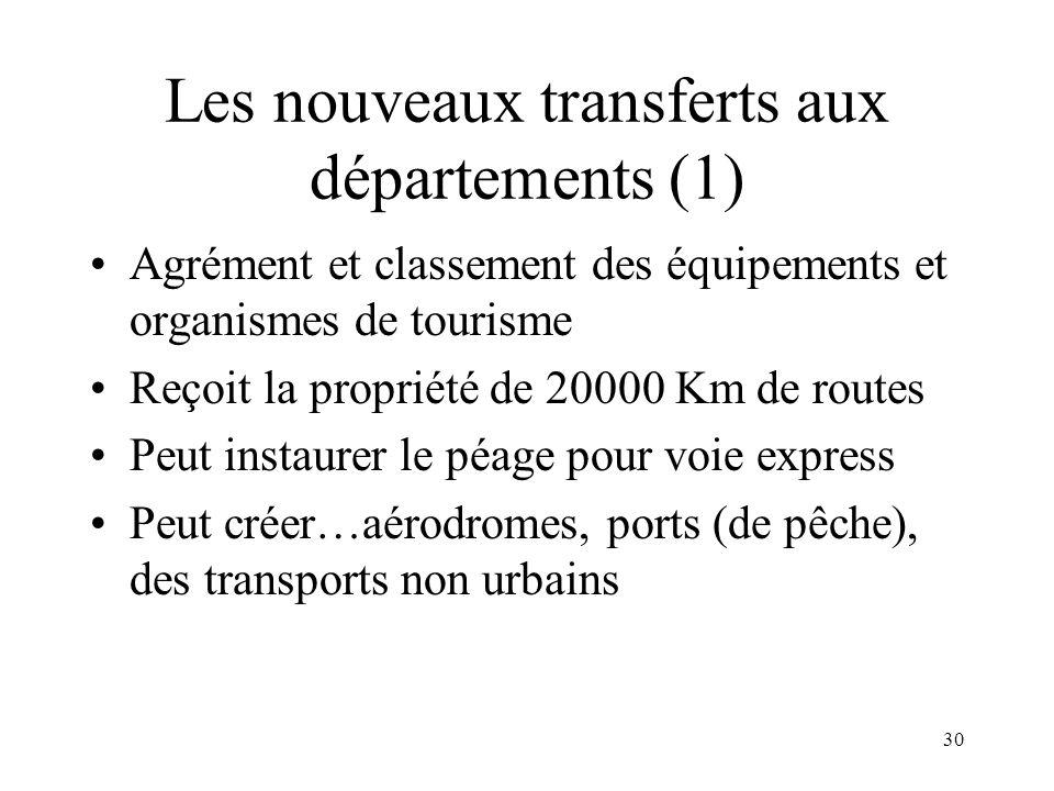 Les nouveaux transferts aux départements (2)