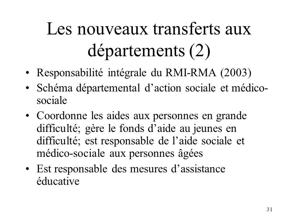 Les nouveaux transferts aux départements (3)