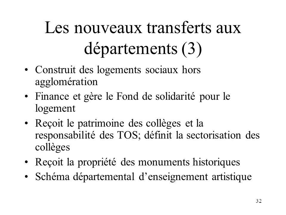 Les nouveaux transferts aux communes et EPCI