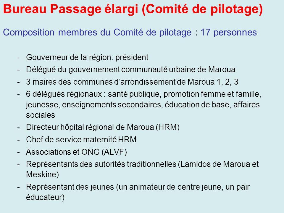 Bureau Passage élargi (Comité de pilotage)