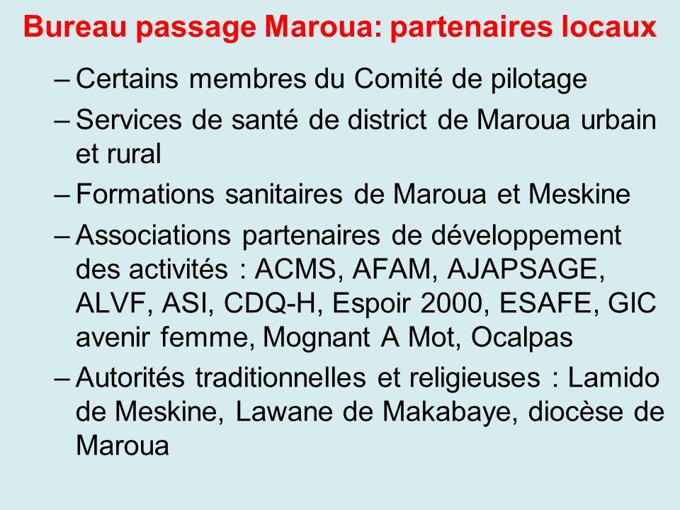 Bureau passage Maroua: partenaires locaux